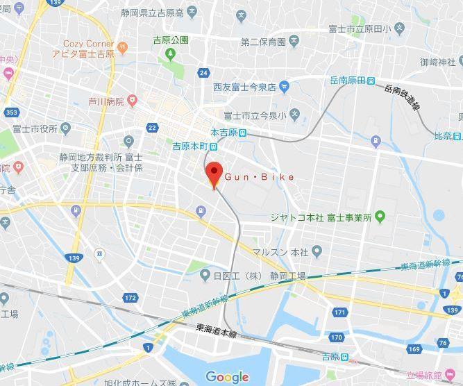 KTM富士/Gun・Bike地図